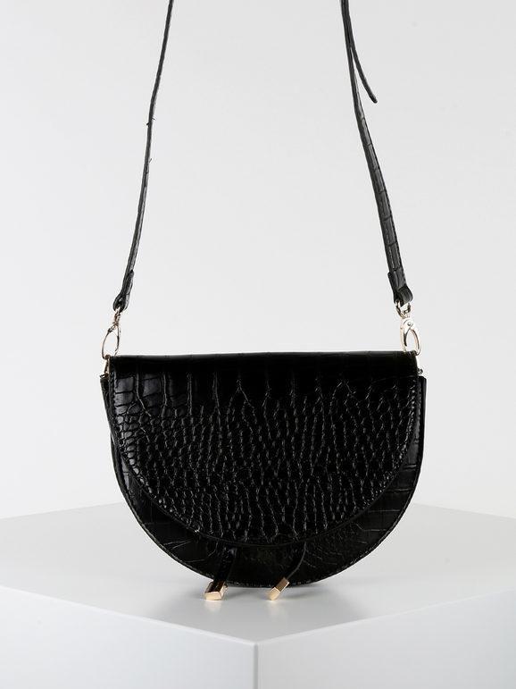 solada tracolla in ecopelle effetto coccodrillo borse a tracolla donna nero taglia unica