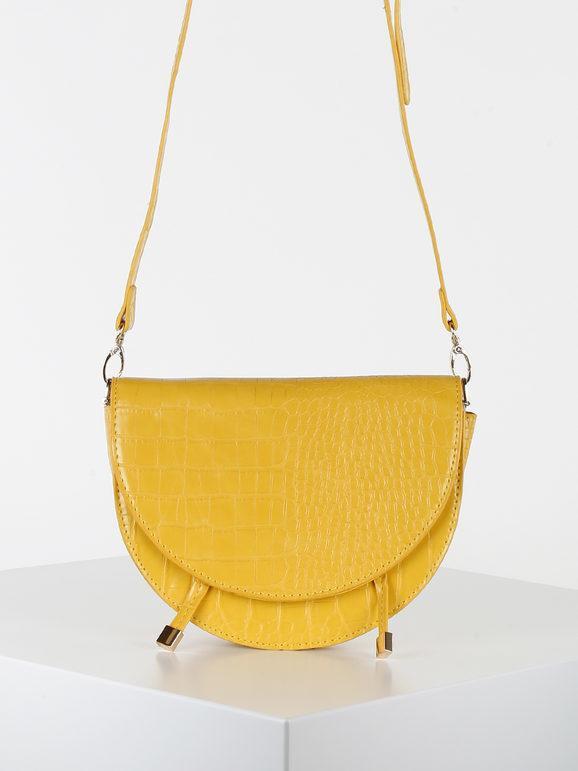 solada tracolla in ecopelle effetto coccodrillo borse a tracolla donna giallo taglia unica