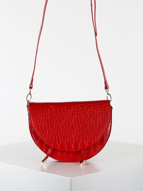 solada tracolla in ecopelle effetto coccodrillo borse a tracolla donna rosso taglia unica