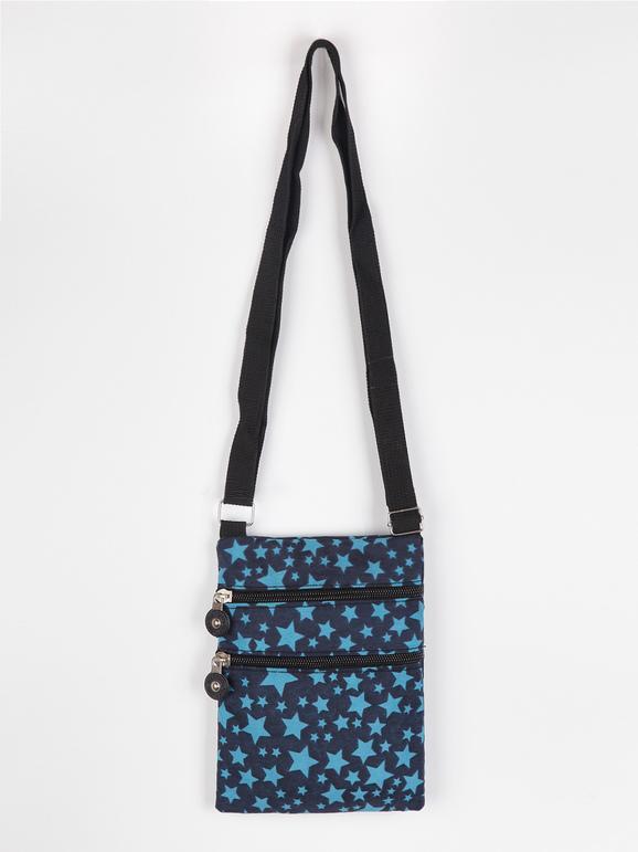 solada tracolla piccola con stelle borse bambina blu taglia unica