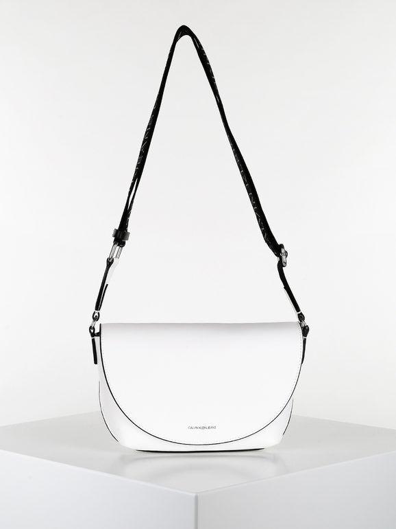 calvin klein trapezoid shadow borsetta a tracolla donna borse a tracolla donna bianco taglia unica