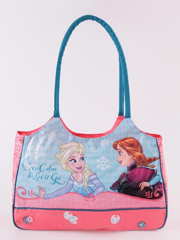 Disney Borsa mare con stampa Elsa e Anna Borse bambina Rosa taglia Unica