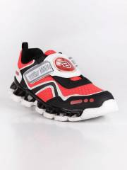 Bulls Scarpe Bimbo Con Luci Sneakers Basse Bambino Rosso Taglia 31