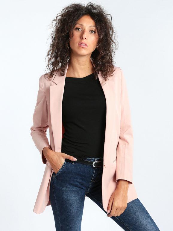 radaus blazer donna con bottone blazer donna rosa taglia 48