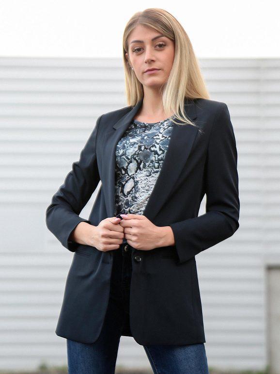 radaus blazer donna con bottone blazer donna blu taglia 42