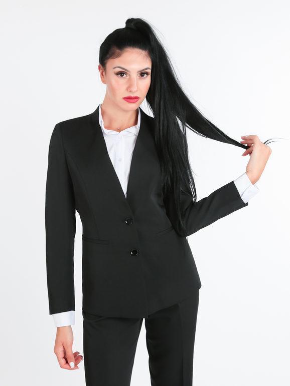 radaus blazer donna scollo alla coreana blazer donna nero taglia 50