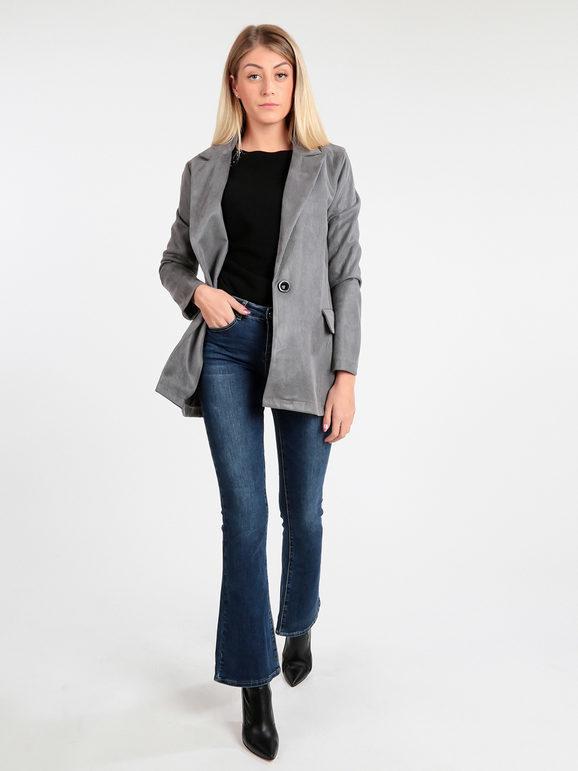 solada blazer donna vintage blazer donna grigio taglia l