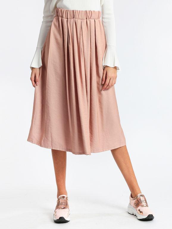 solada gonna midi plissettata gonne lunghe donna rosa taglia unica