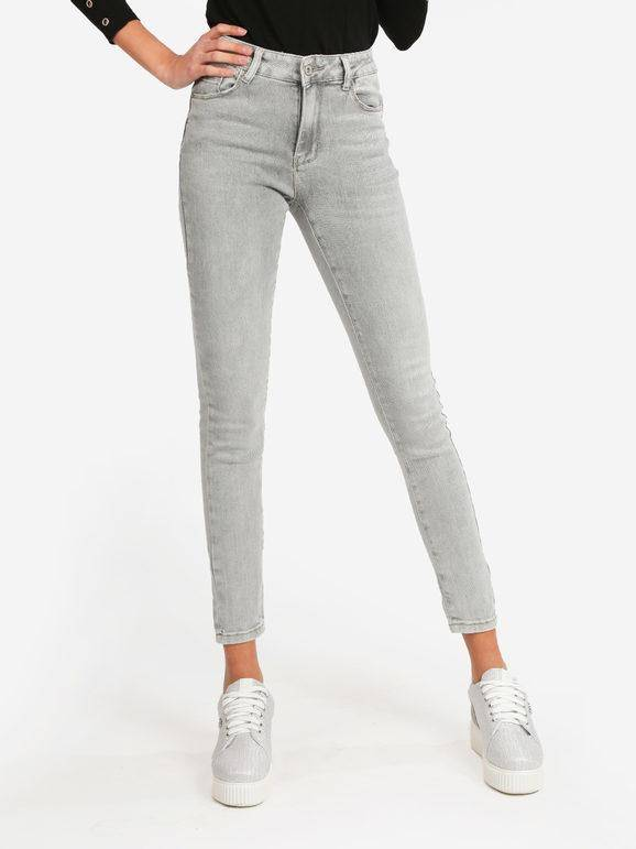 only jeans da donna slim fit pantaloni casual donna grigio taglia 38