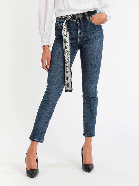 farfallina jeans donna con cintura jeans slim fit donna jeans taglia 48
