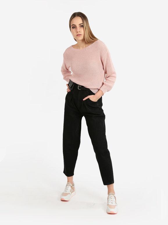 solada maglioncino donna in maglia leggera traforata pullover donna rosa taglia unica