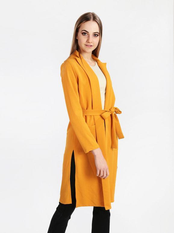 lumina spolverino donna con cintura giacche leggere donna giallo taglia m