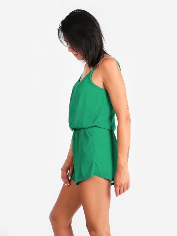 solada tuta corta jumpsuit jumpsuit donna verde taglia unica