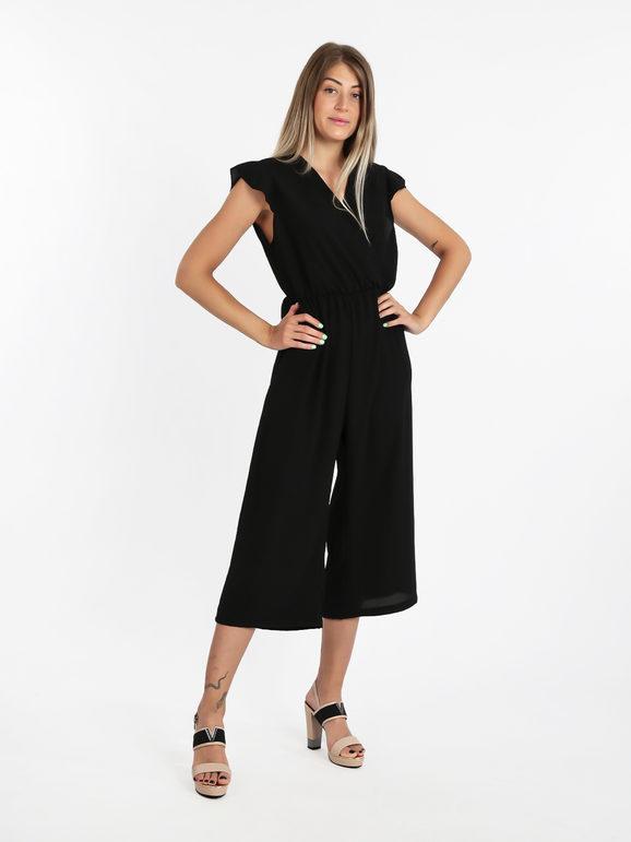 solada tuta jumpsuit lunga scollo a v jumpsuit donna nero taglia unica