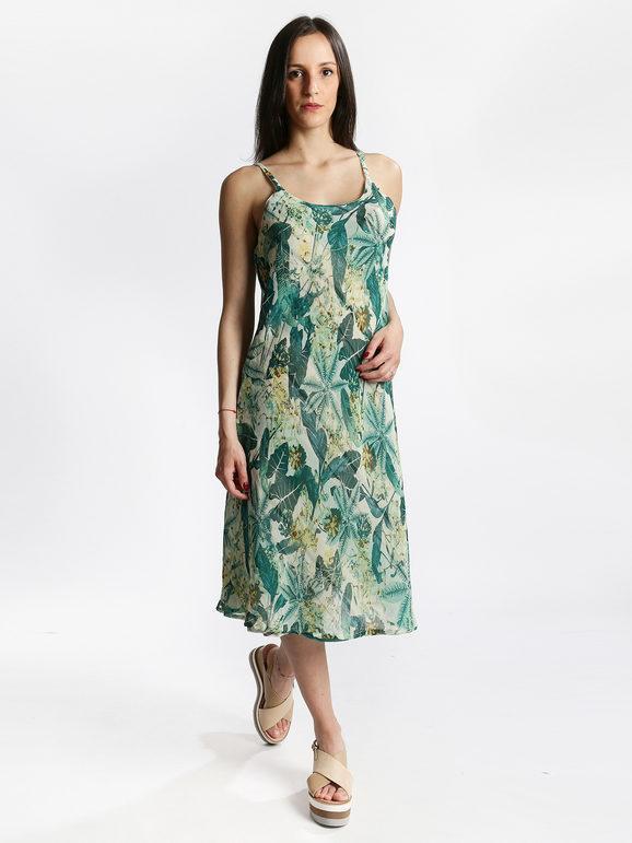 positano vestito lungo revbersibile con spalline vestiti donna verde taglia xxl