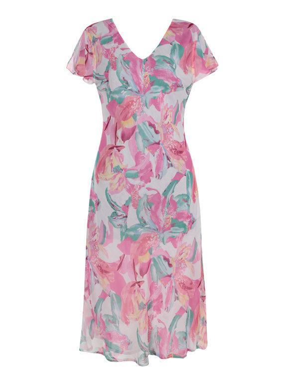 positano vestito lungo reversibile scollo a v abiti donna rosa taglia xl