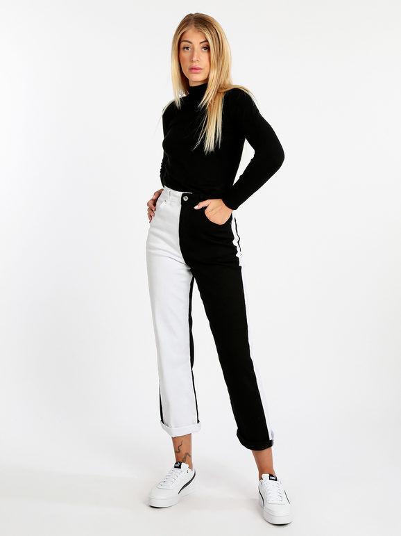 Jeans Louise Francoise Jeans donna mom fit bicolor Jeans Boyfriend donna Multicolore taglia L