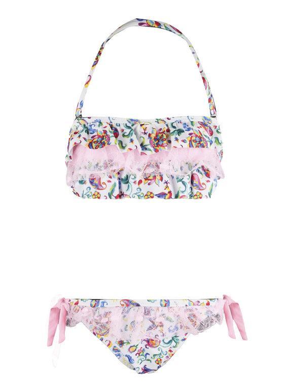 Hello Bikini Costume bikini bambina con stampe Bikini bambina Rosa taglia 12