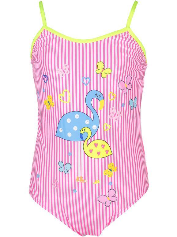 Solada Costume intero a righe bimba Costumi Interi bambina Rosa taglia 05/06