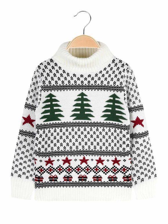 Best Maglione dolcevita da bambino natalizio Maglioni bambino Bianco taglia 14