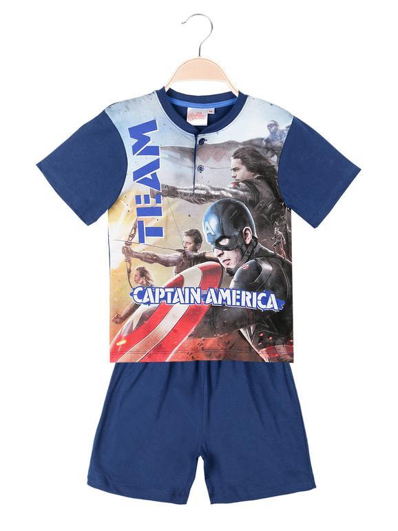 Marvel Pigiama in cotone con stampa Avengers Pigiami bambino Blu taglia 06
