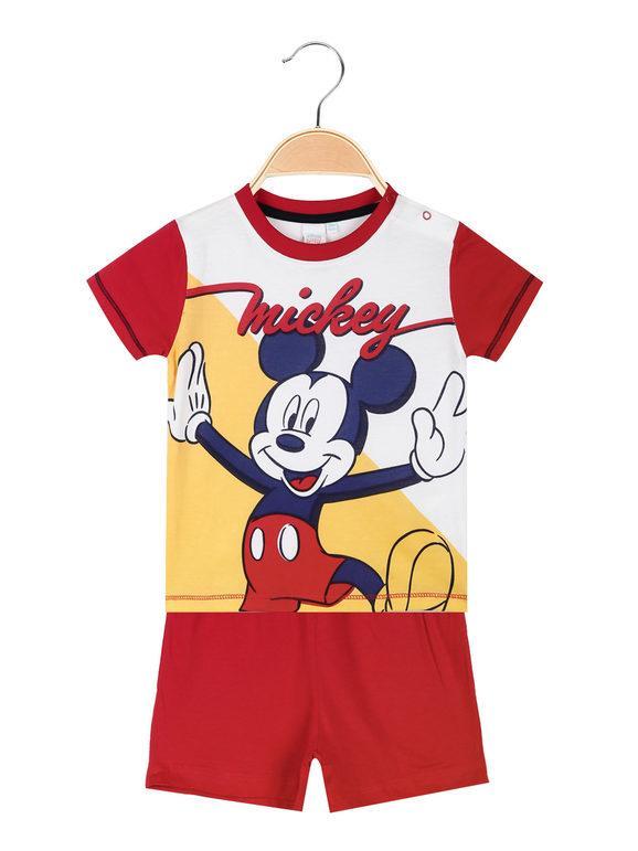 Disney Topolino pigiama corto neonato Pigiami bambino Rosso taglia 24M