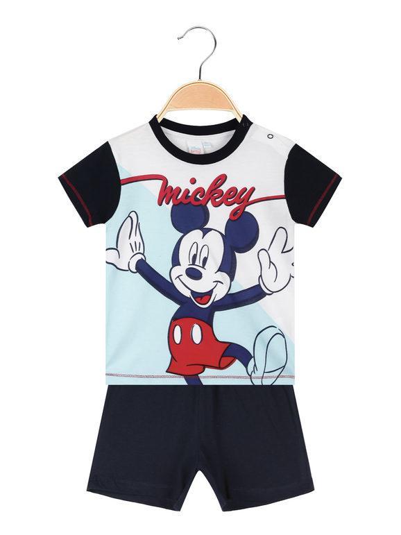 Disney Topolino pigiama corto neonato Pigiami bambino Blu taglia 18M