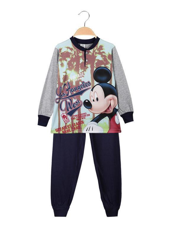 Disney Topolino pigiama lungo da bambino in cotone Pigiami bambino Grigio taglia 07