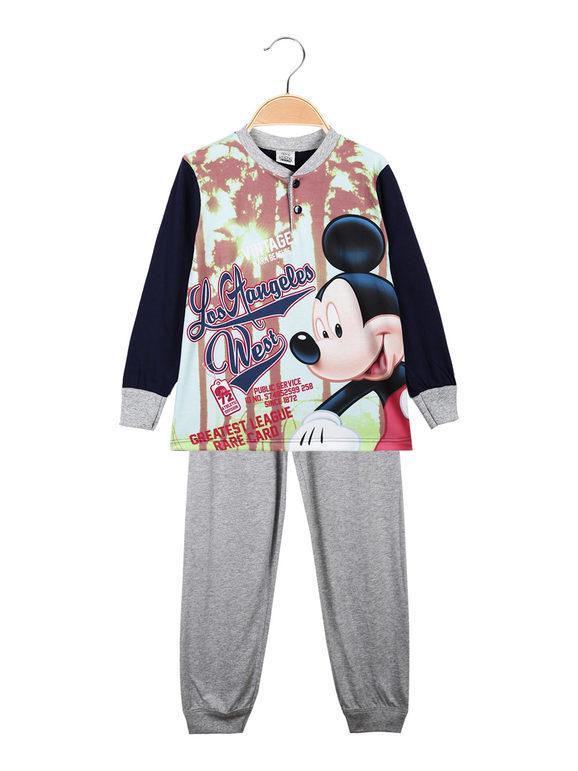 Disney Topolino pigiama lungo da bambino in cotone Pigiami bambino Blu taglia 06