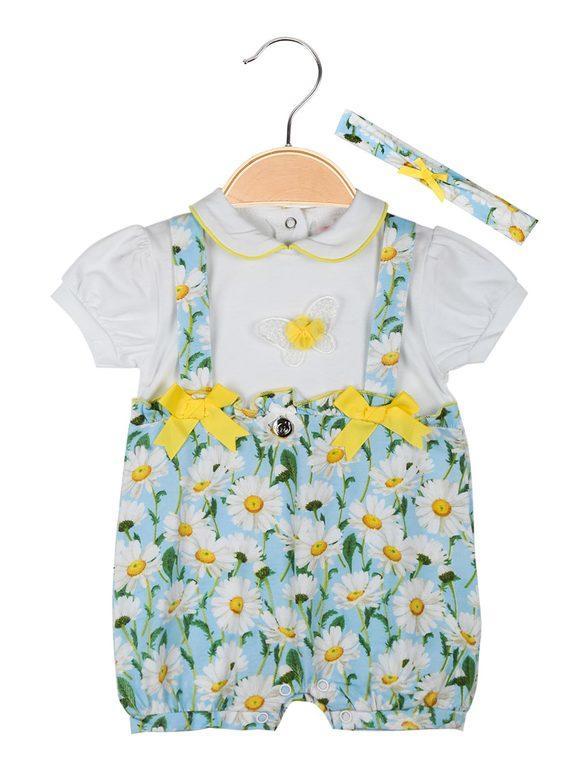 Yes! Do Kids Tutina corta neonata con fascia per capelli Completi 12-36 M bambina Blu taglia 6/9M