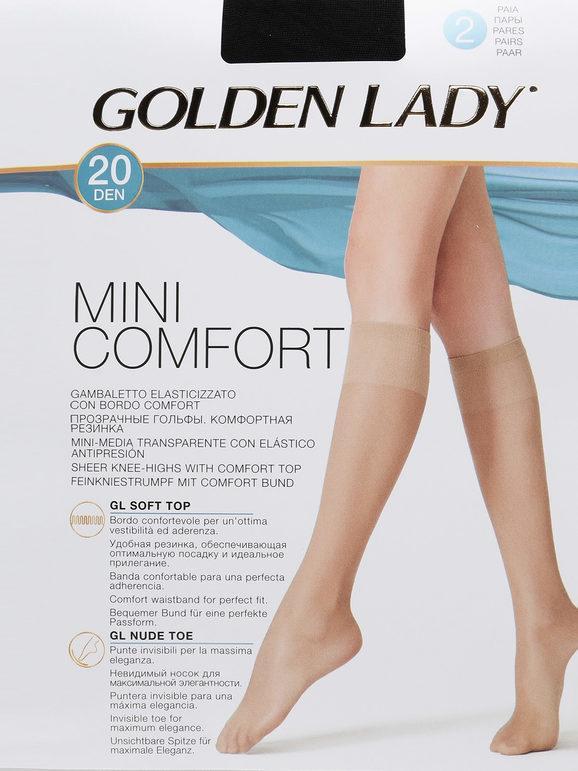 golden lady gambaletto elasticizzato 20 denari 2 pezzi collant donna nero taglia s/m
