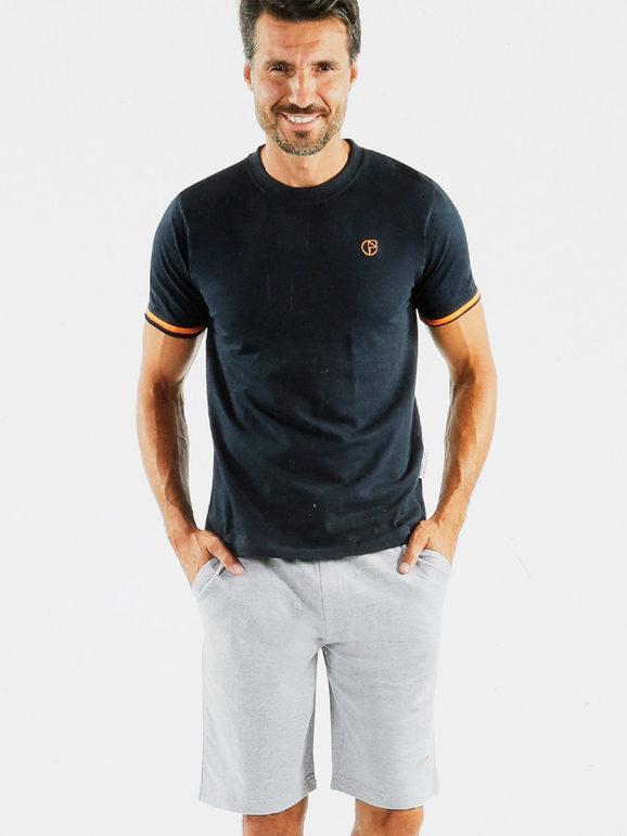 Nazareno Gabrielli Completo homewear da uomo Pigiami uomo Blu taglia XL
