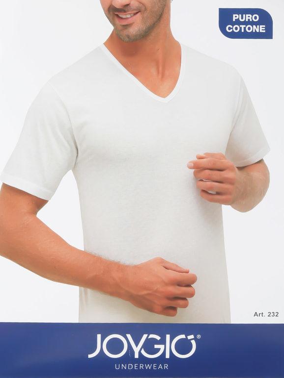 Joygio' Maglietta intima uomo scollo a V Maglie Intime uomo Bianco taglia 06