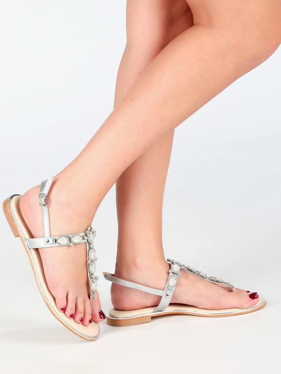 gavi infradito gioiello donna infradito donna argento taglia 37
