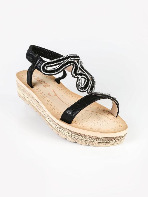 maira sandali donna gioiello con zeppa e plateau sandali con zeppa donna nero taglia 41