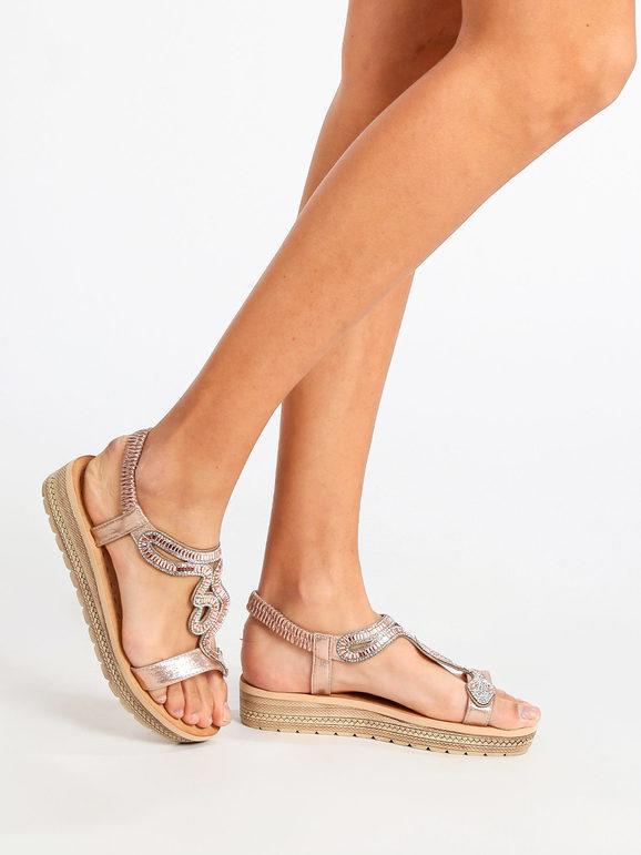 maira sandali donna gioiello con zeppa e plateau sandali con zeppa donna beige taglia 41