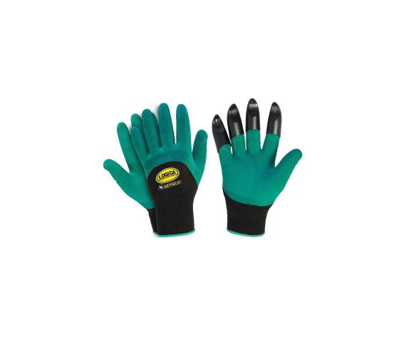 logica guanti da giardinaggio con artigli rigidi, artiglio-tris