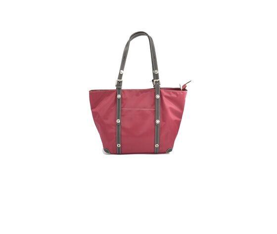 pourchet -borsa donna intessuto e pelle rossa