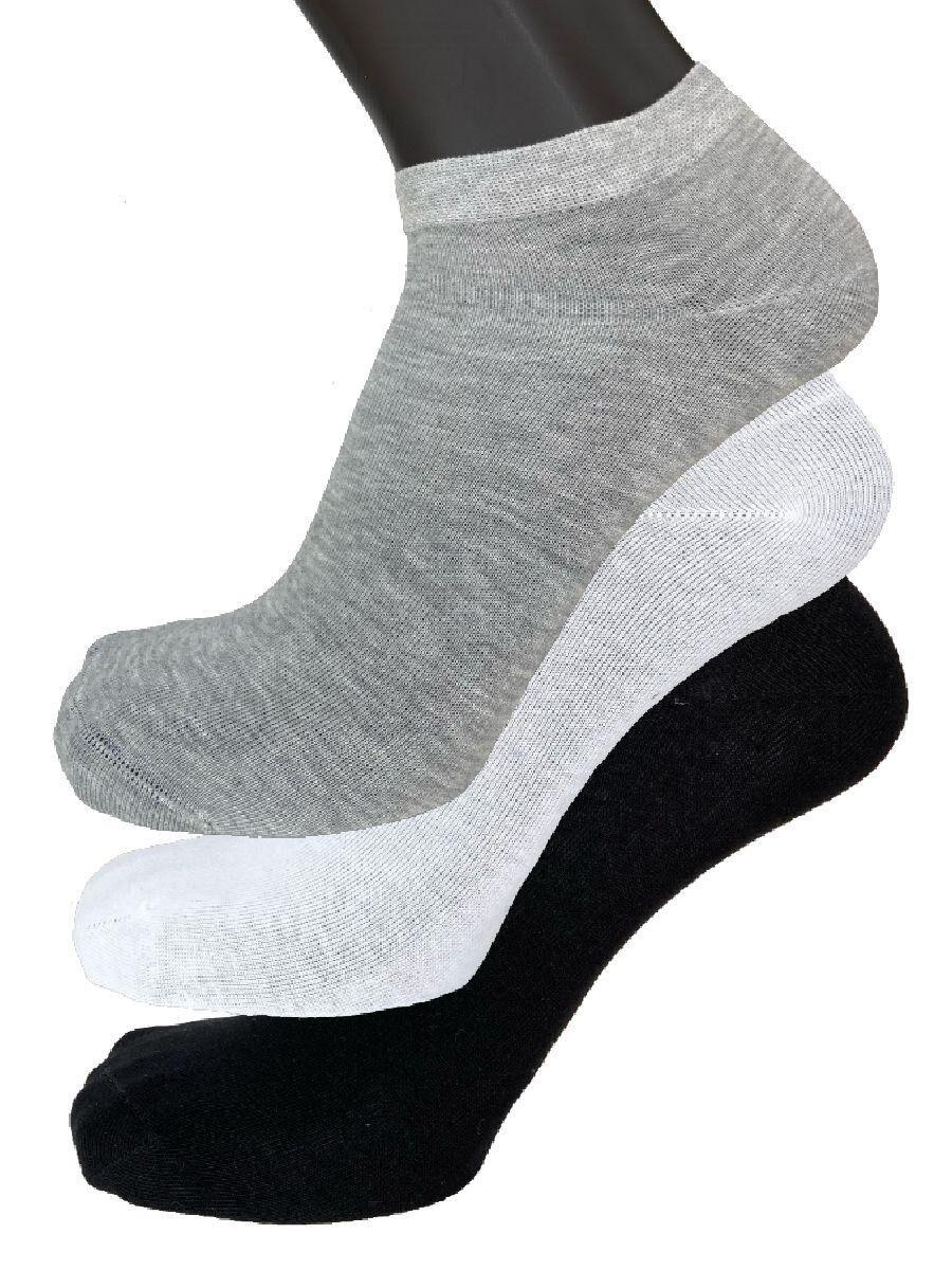 fashion trade 6 paia di calzini unisex corti sopra la caviglia in cotone