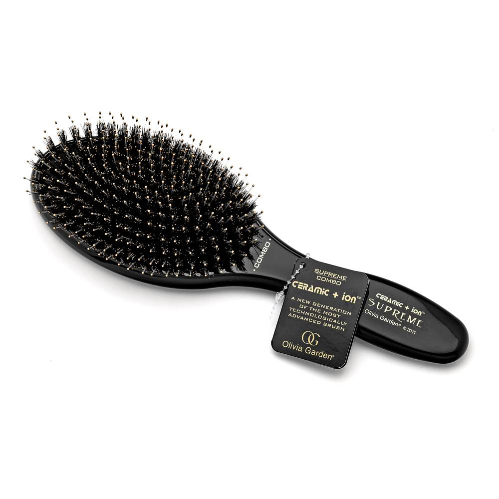Olivia Garden Ceramic+Ion Supreme Combo spazzola per capelli Black
