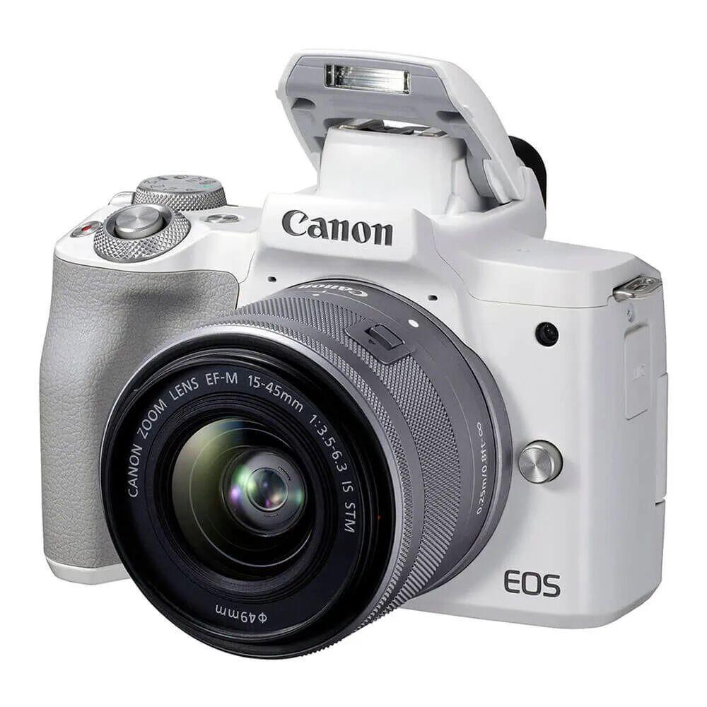 Canon EOS M50 Mark II Bianco + 15-45 mm IS STM - BLACK FRIDAY SUMMER WEEK