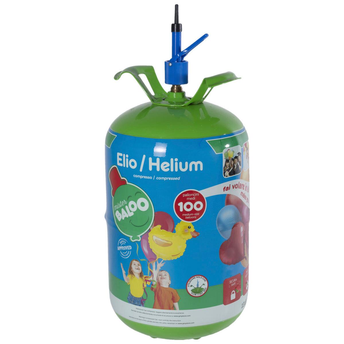 Mister Baloo bombola elio usa e getta per 100 palloncini inclusi