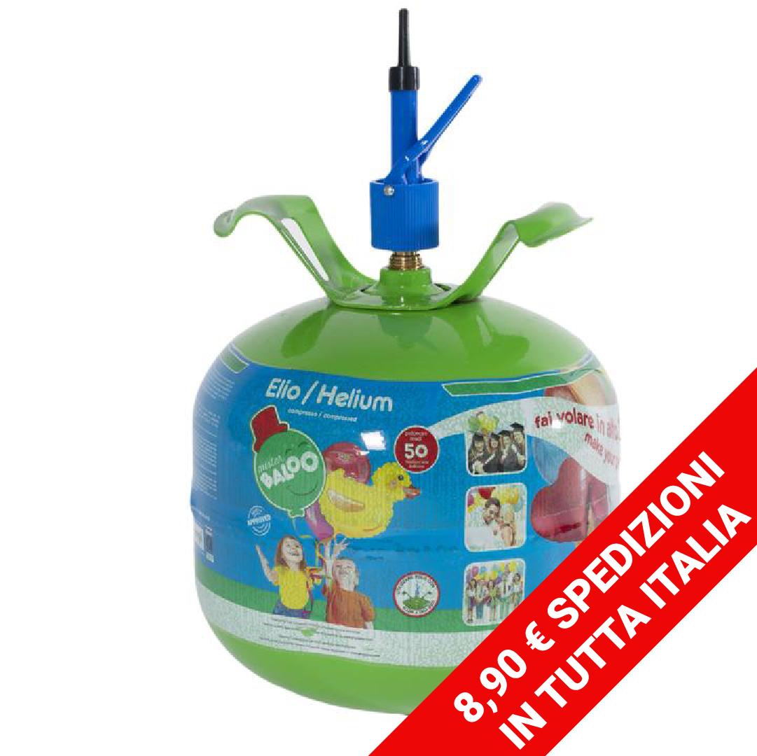 Mister Baloo bombola elio usa e getta per 50 palloncini inclusi
