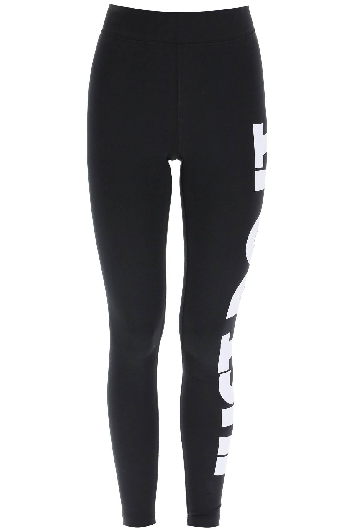 Nike LEGGINGS CON GRAFICA JUST DO IT L Nero, Bianco Cotone, Tecnico