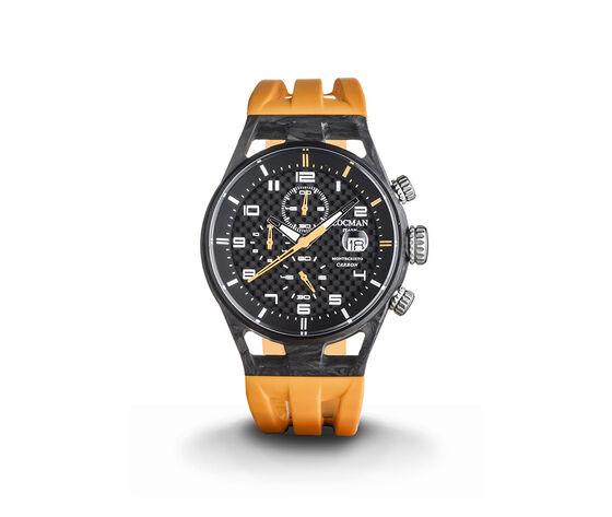 Locman Montecristo Carbon Crono Quartz 41 Mm Orange 0545c09s-Cocbwhso