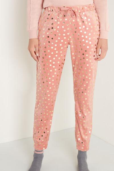 tezenis pantalone lungo micropile donna rosa