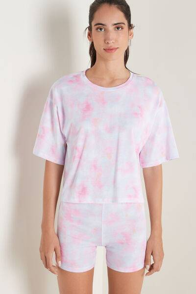 Tezenis Pigiama Corto Stampa Tie&Dye; Donna Multicolore