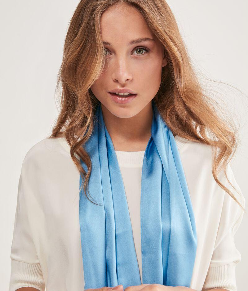falconeri sciarpa seta donna azzurro