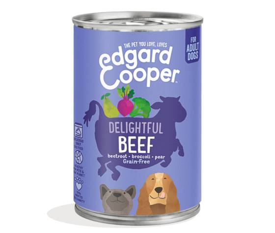 EDGARD & COOPER Edgard & Cooper Umido Manzo Con Barbabietolo, Broccoli E Pera Per Cani 400 Gr