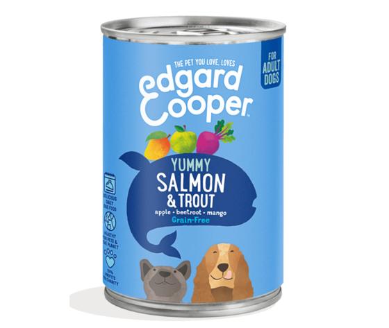 EDGARD & COOPER Edgard & Cooper Umido Salmone E Trota Con Mela, Barbabietola E Mango Per Cani 400 Gr